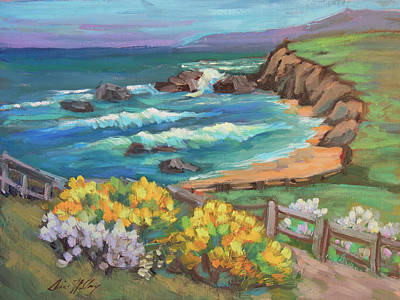 Ground Painting - Ritz Carlton At Half Moon Bay by Diane McClary