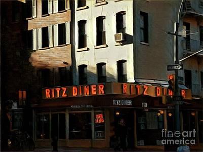 Photograph - Ritz Diner - New York by Miriam Danar