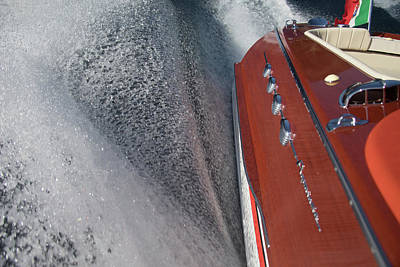 Photograph - Riva Aquarama Wake by Steven Lapkin