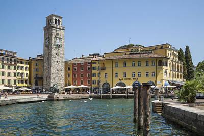 Lake Garda Photograph - Riva Del Garda Apponale Tower by Melanie Viola