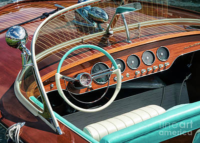 Photograph - Riva Super Ariston Dash by Tim Gainey