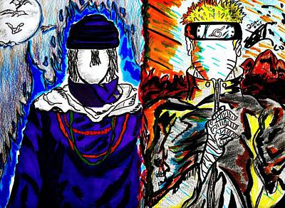 Naruto Drawing - Rivals by Seif Seif