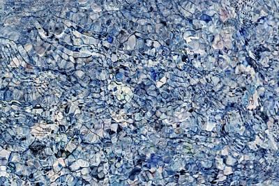 Photograph - River Reflections Blue by Dutch Bieber