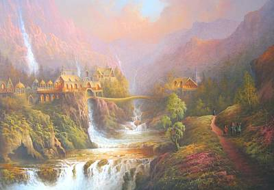 The Shire Painting - Rivendell by Joe Gilronan