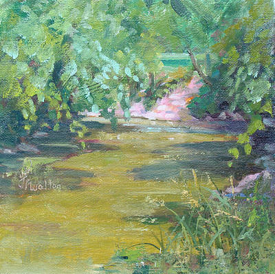 Painting - River After The Storm by Judy Fischer Walton