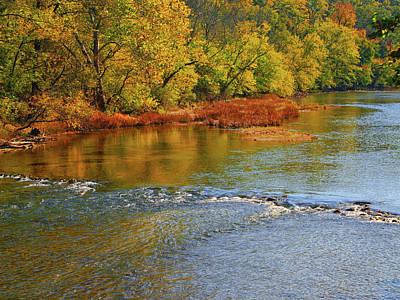 Photograph - River Along Pa At by Raymond Salani III