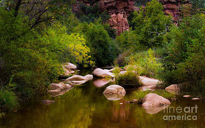 Ollivrosa Wall Art - Photograph - River And Red Rock by Amy Sorvillo