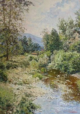 River At Bulgarian Foothills Art Print by Andrey Soldatenko