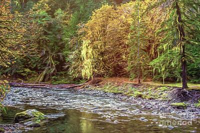 Photograph - River Autumn by Jean OKeeffe Macro Abundance Art