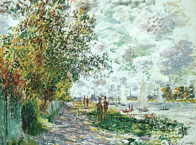 Painting - River Bank At Petit Gennevilliers by Claude Monet