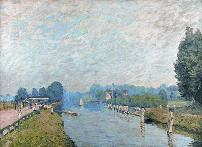 Alfred Sisley Painting - River Banks by Alfred Sisley