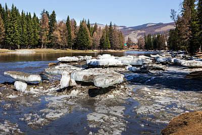 Edward Hopper - River Bashkaus with Drifted Ice. Altay by Victor Kovchin