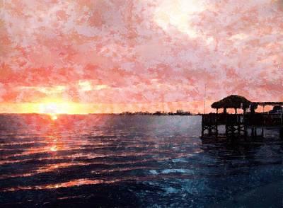 Mixed Media - River Beauty by Florene Welebny