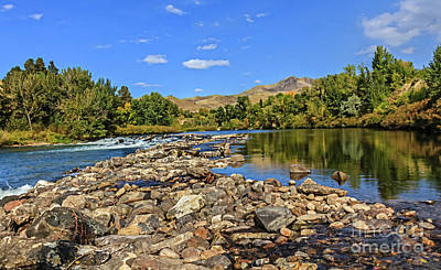 Photograph - River Bed View by Robert Bales
