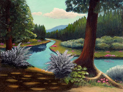 Arizona Artists Painting - River Bend by Gordon Beck
