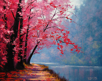 Lake Wall Art - Painting - River Bend by Graham Gercken