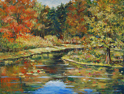 River Bend Art Print by Alexandra Maria Ethlyn Cheshire