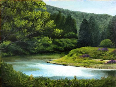 Painting - River Bend by Rick Fitzsimons