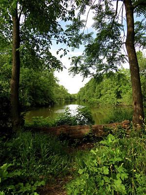 Photograph - River Bend Seating by Kimberly Mackowski