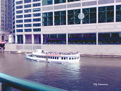 River Boat Tour Art Print