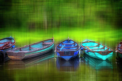 Photograph - River Boats Dreamscape by Debra and Dave Vanderlaan