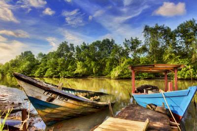Photograph - River Boats by Nadia Sanowar