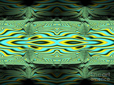 Digital Art - River Borne Sunlight And Shadows Fractal Abstract by Rose Santuci-Sofranko