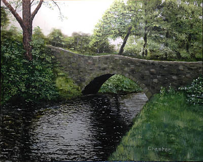 Painting - River Bridge by Francis Chester