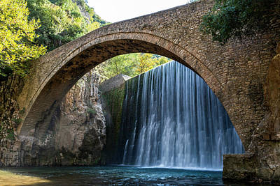 Photograph - River Bridge by Nikos Stavrakas
