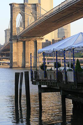 Photograph - River Cafe With Brooklyn Bridge by Christopher Kirby