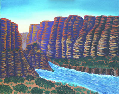 Painting - River Canyon by Tim Longwell