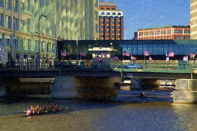 Milwaukee Painting - River Chase by Renee Skiba