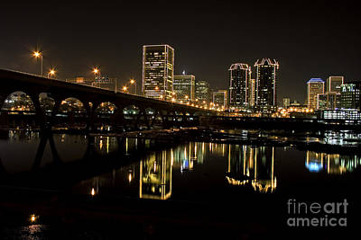 River City Lights At Night Art Print by Tim Wilson