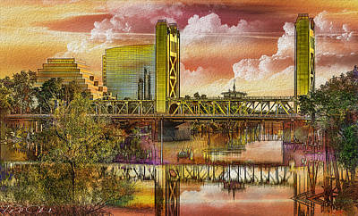 Photograph - River City Sunrise by Phil Clark