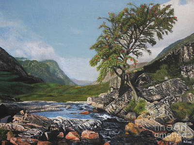Painting - River Coe Scotland Oil On Canvas by David Rives