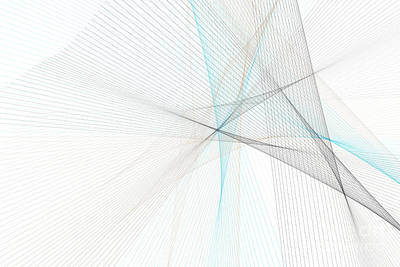 River Computer Graphic Line Pattern Art Print by Frank Ramspott