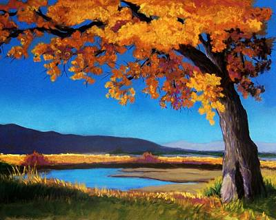 River Cottonwood Art Print by Candy Mayer