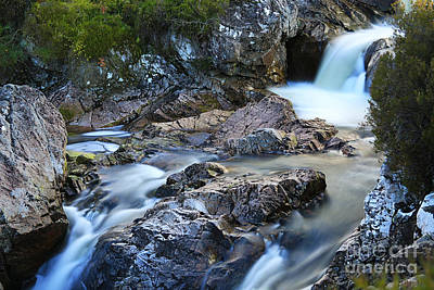 Stob Dearg Photograph - River Coupall Waterfall by JM Braat Photography