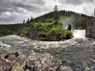 Yellowstone Photograph - River Course by Leland D Howard
