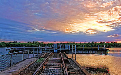 Trains Photograph - River Crossing by HH Photography of Florida