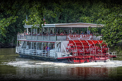 Photograph - River Cruise With The Grand Lady Paddle Wheel Boat On The Grand River by Randall Nyhof