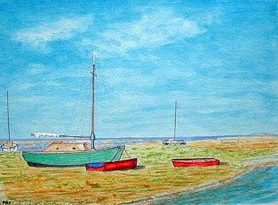 Painting - River Dee - Heswall Shore by Peter Farrow