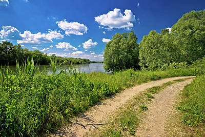 Photograph - River Drava Landscape And Path by Brch Photography