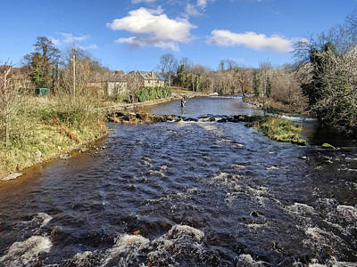 Photograph - River Drowse At Kinlough, Leitrim - One Of The Best Trout And Salmon Fishing Rivers In Ireland by John Carver
