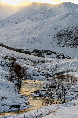 Photograph - River Etive And Stob Na Broige by Neil Alexander