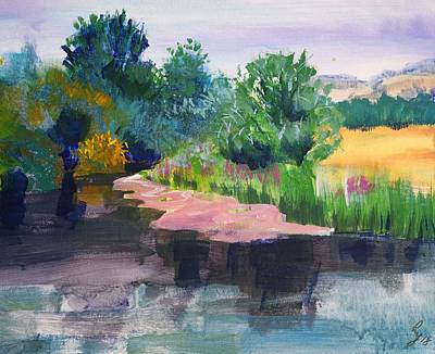 Painting - River Exe En Plein Air Impressionist Painting by Mike Jory