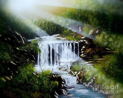 Painting - River Falls E by Greg Moores