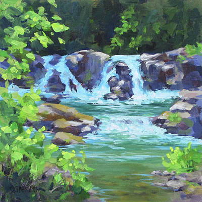 Painting - River Falls by Karen Ilari