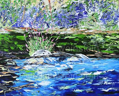 Painting - River Flow 2 by Felicia Weinstein