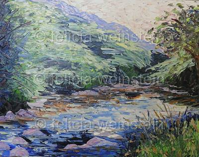 Painting - River Flow 3 by Felicia Weinstein